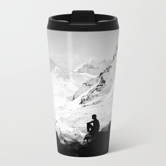 Snowy Isolation Metal Travel Mug