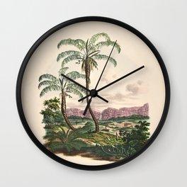 Tree astrocaryum campestre L  cocos flexuosa L 9 Wall Clock