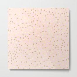 Pink Confetti Metal Print