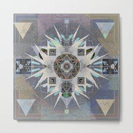 Iterations of the 5th Dimension Meditation Mandala Metal Print