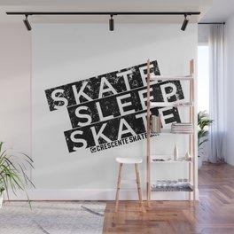 Skate Sleep Skate Wall Mural