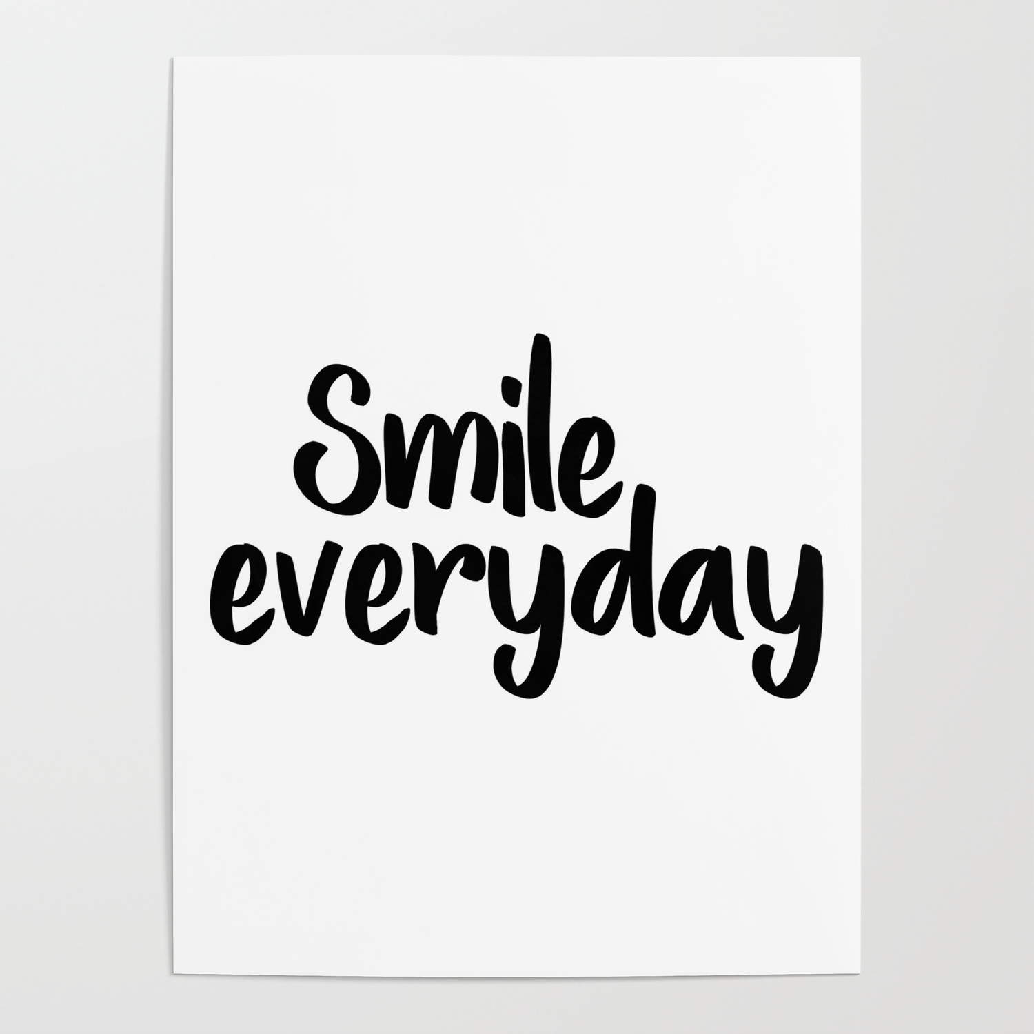 Smile Everyday Motivational Poster