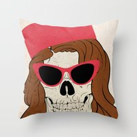 60s Throw Pillows featuring 60s by Christopher Goggs