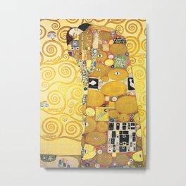 Gustav Klimt - The Embrace - Die Umarmung - Vienna Secession Painting Metal Print