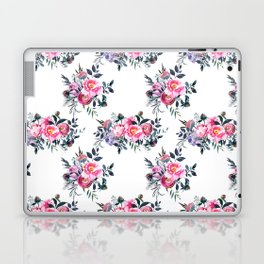 Artistic blush pink green yellow watercolor hand painted floral Laptop & iPad Skin