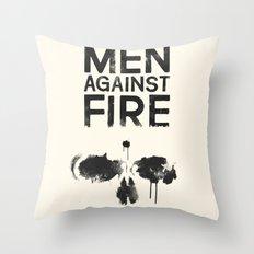 Men Against Fire Throw Pillow