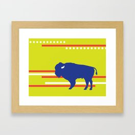 Bison striped Framed Art Print