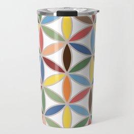 Flower of Life Retro Color Big Pattern Travel Mug