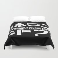 cowboy bebop Duvet Covers featuring Chuggalo Bebop by How Much Can You Chug Foo?!