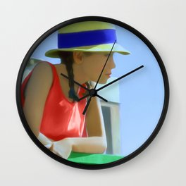 Waiting for a friend Wall Clock
