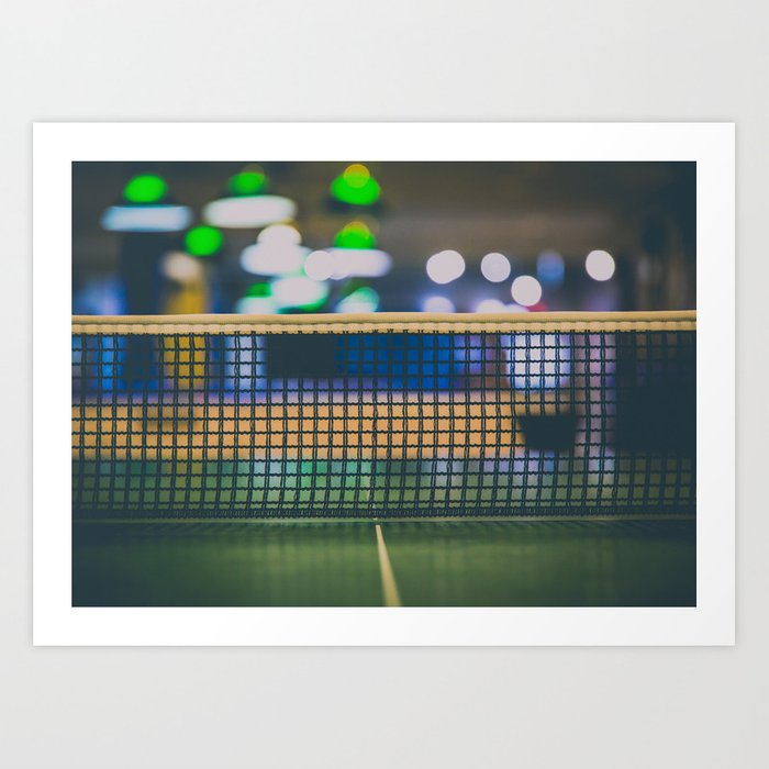 Charmant Ping Pong Tabletop Net In Game Room Art Print