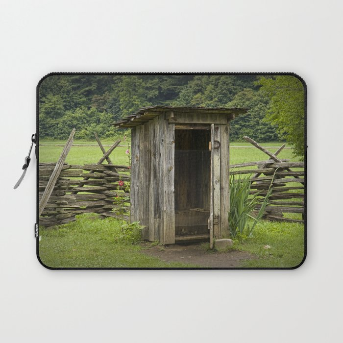 Old Outhouse on a Farm in the Smokey Mountains Laptop Sleeve