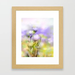 Mixed Media Tulips Framed Art Print
