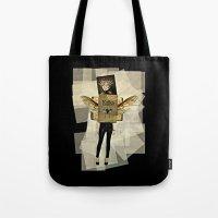 kafka Tote Bags featuring Mrs. Kafka by Studio Judith