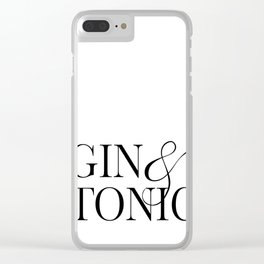 Gin&Tonic Clear iPhone Case