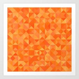 Orange Bulk Art Print