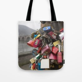Heidelberg Love Locks Tote Bag