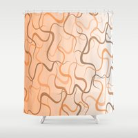 wave Shower Curtains featuring Wave by ArtSchool