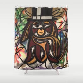 Charlie Monopoly Shower Curtain