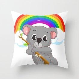 Cute Little Koala Bear LGBT Community Pride T Shirt Throw Pillow