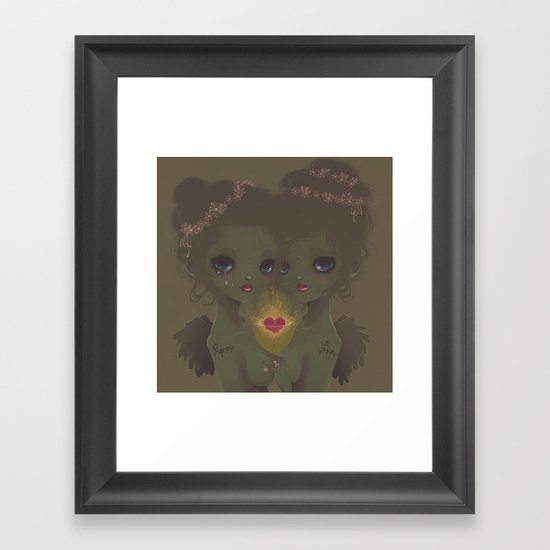 Love & Live Framed Art Print