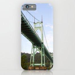 St John's Bridge Portland iPhone Case