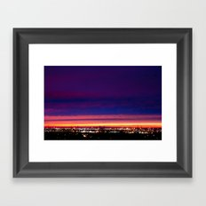 Yesterday's sunset Framed Art Print