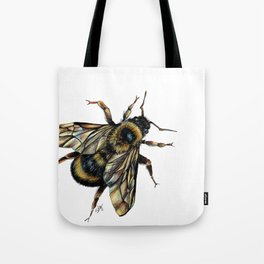 Realistic Bumble Bee Drawing Tote Bag