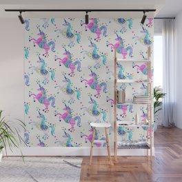 Pastel Unicorns Wall Mural