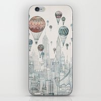 nyc iPhone & iPod Skins featuring Voyages Over New York by David Fleck