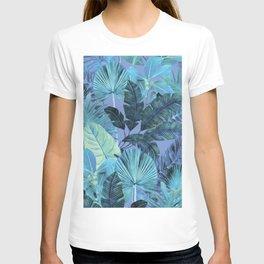 Tropical Leaf Aqua T-shirt