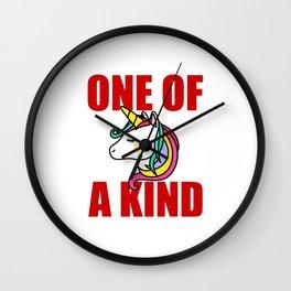 one of a kind unicorn Wall Clock