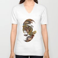 baroque V-neck T-shirts featuring Baroque by Tobias Bowman