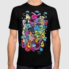 Monster friends Black Mens Fitted Tee X-LARGE