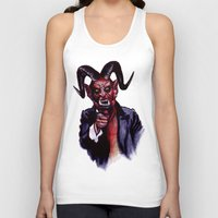 satan Tank Tops featuring Uncle Satan by Zombie Rust