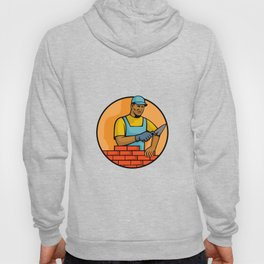 African American Bricklayer Mascot Hoody
