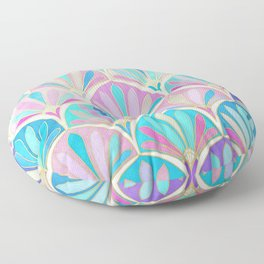 Glamorous Twenties Art Deco Pastel Pattern Floor Pillow