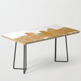 Greensboro, NC Skyline - Rust Coffee Table