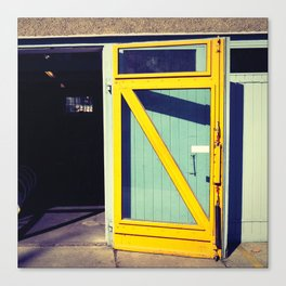 Yellow door by dayDREAM Canvas Print