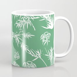Bamboo Silhouettes in Everglade Green/Seashell White Coffee Mug