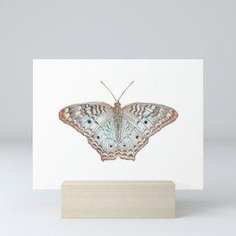 White Peacock Mini Art Print