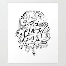 Let's live beautifully (Korean) Art Print