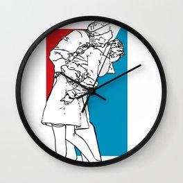Nauti & Kiss (Kissing the War Goodbye) Wall Clock