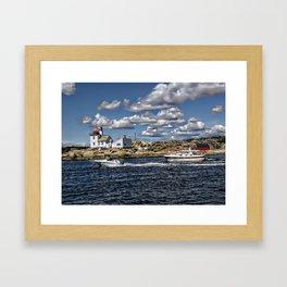 Homlungen lighthouse, Hvaler in Norway Framed Art Print