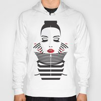 striped Hoodies featuring striped by Yordanka Poleganova