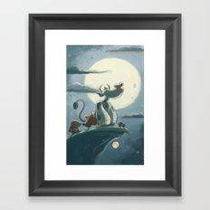 Goblins Drool, Fairies Rule! - Full Moon Moo Framed Art Print