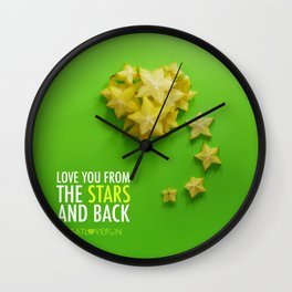 Love You from the Stars and back Wall Clock