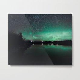 Northern Lights over Emerald Bay II Metal Print
