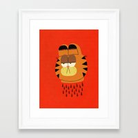 garfield Framed Art Prints featuring Garfield by Jack Teagle