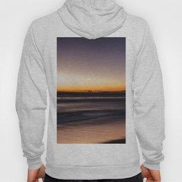 Sunset Yellow Purple Beach Ocean Seascape Landscape Colored Wall Art Print Hoody
